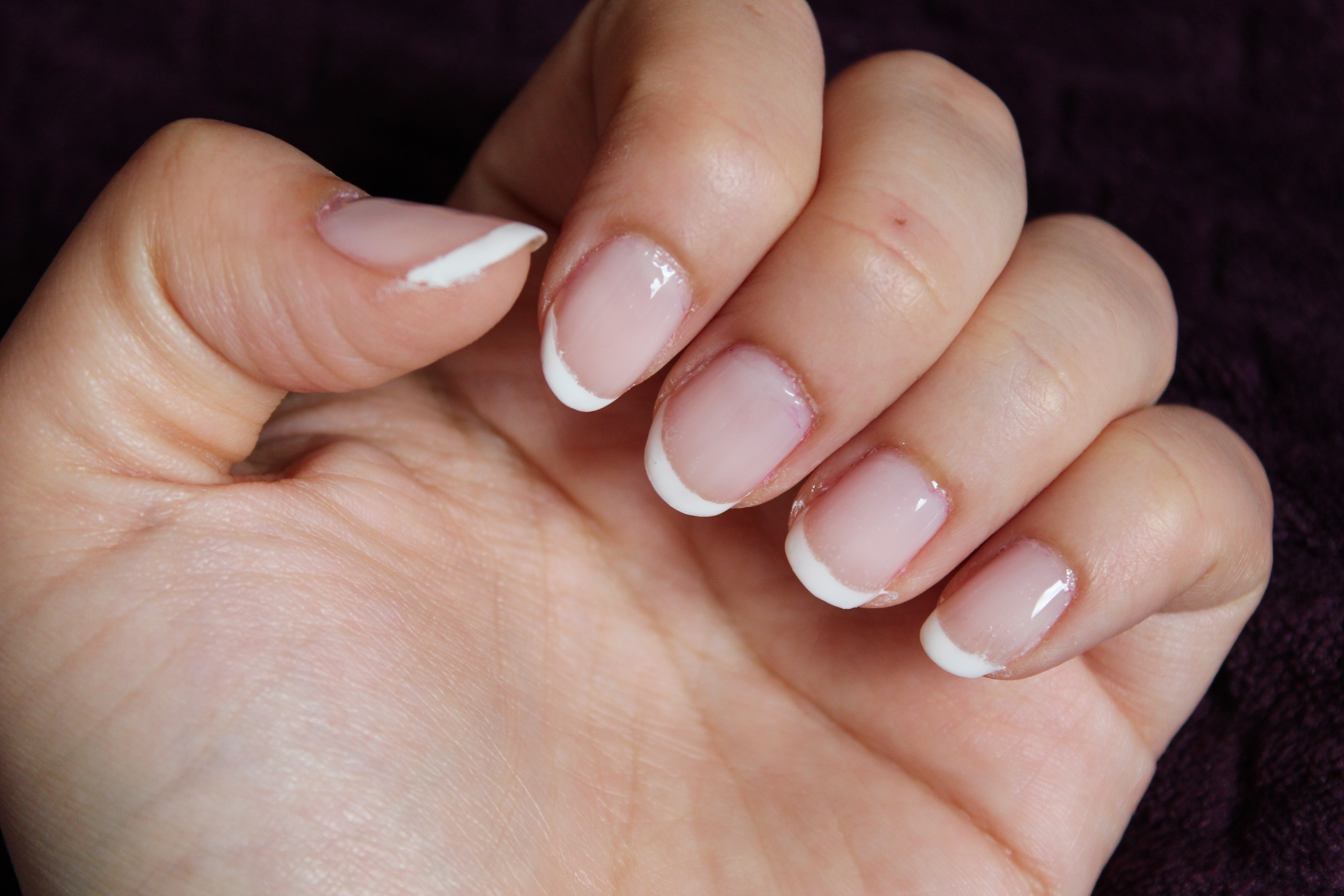 How To Easy French Manicure Nails At Home Beaming Lily